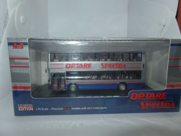 Jotus Resin RS76623A 1/76 OO Optare Spectra Demonstrator Silver Blue Route 003